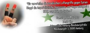 SYRIA COM - manif 18 mai Hamburg (2013 05 16) DE