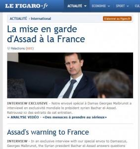 LM - SYRIA Analyse assad au figaro (2013 09 03) FR 1