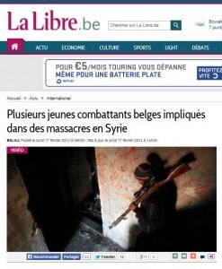 LM - SYRIA crimes de guerre djihadistes belges (2014 02 17)  FR (1)