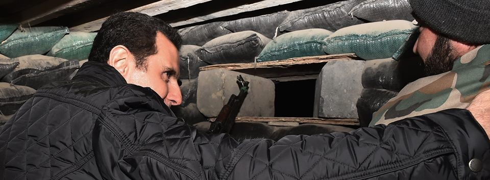 SYRIA - Bachar nouvel an a Jobar (2014 12 31) FR (1)