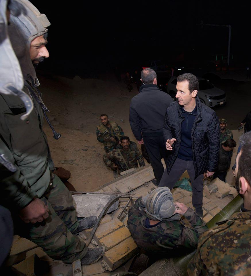 SYRIA - Bachar nouvel an a Jobar (2014 12 31) FR (2)