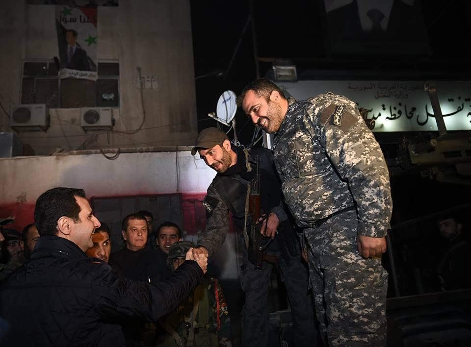 SYRIA - Bachar nouvel an a Jobar (2014 12 31) FR (3)