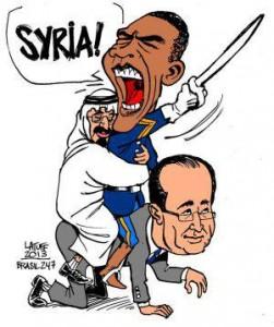 SYRIA - LM hollande scénario libyen en syrie (2015 08 25)  FR