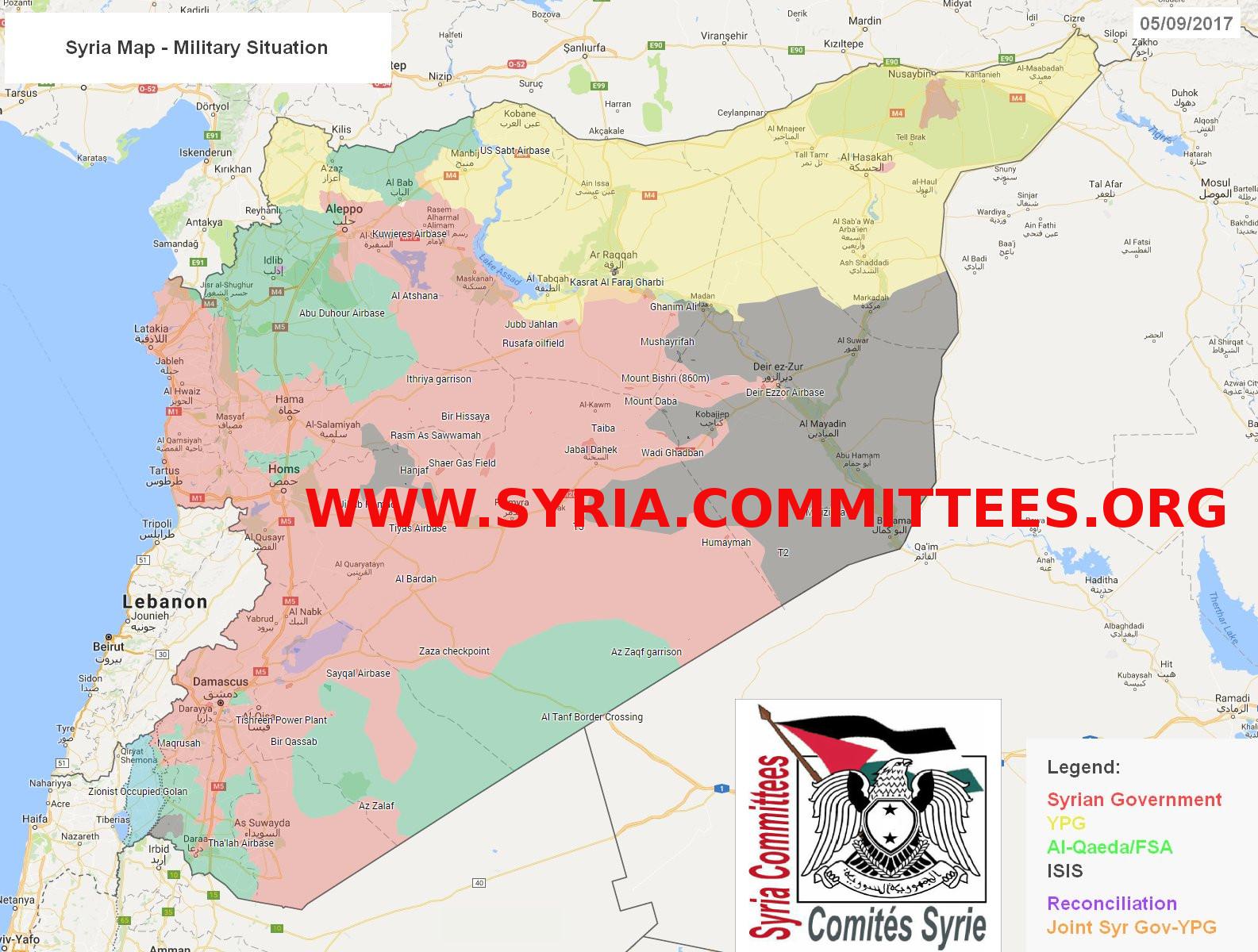 Carte Syrie 20170906
