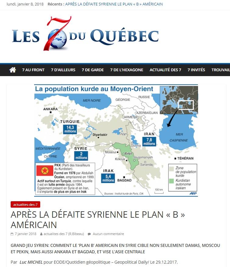 LM.NET - 7QUEBEC plan b syrie (2018  01 07)