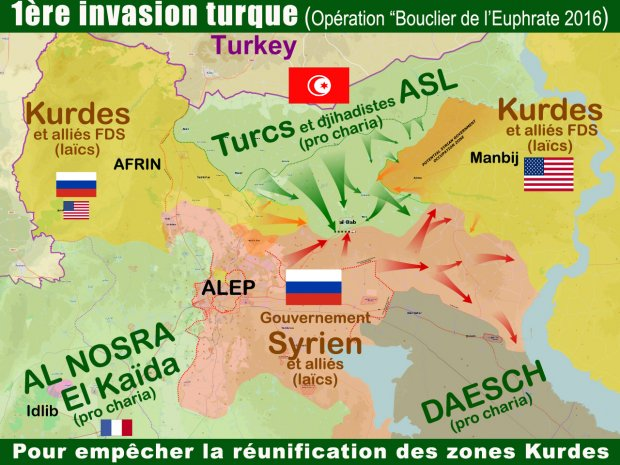 LM.GEOPOL - Syrie les masquent  tombent I turquie (2018 02 12) FR 3