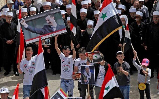 SYRIA - Druzes golan pour assad   (2018 04 18) FR